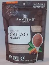 Organic Cacao Powder 8 oz Bag. Navitas Organics Non-GMO Fair Trade 8 ounce Cocoa