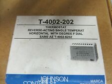 New listing Factory-Sealed Johnson Controls T-4002-202 Pneumatic Thermostat Reverse Acting