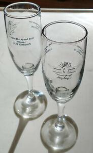 1998 INDIANAPOLIS SPEEDWAY-2 Champagne flutes-winners EDDIE CHEEVER, JEFF GORDON