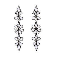 E1021 Betsey Johnson Gatsby Water Drop Crystal Gemstone Wedding Earrings UK