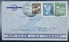 CHILE to GERMANY 1938 nice Cacheted Condor - Lufthansa Airmail Flight Cover LOOK