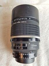 Nikon 135mm f/2 D AF DC-Nikkor Portrait Lens.