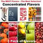 3 PACK DIY Concentrated Flavor TOP BRAND DIY Flavor 10ml Pick Your Flavors