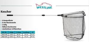 WESTLINE - 2-teiliger Kescher 160cm - Unterfangkescher Kescher Angelkescher