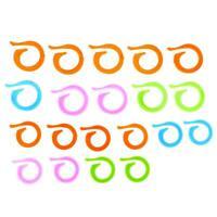20pcs Colorful Plastic Pins Sweater Mark Buckle Needle Knit Yarn DIY Tools hv2n