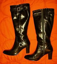 Zip Knee High Boots 100% Leather Upper Shoes for Women NEXT