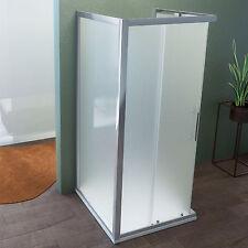 Box doccia 70x70x70 cm tre lati in cristallo opaco apertura scorrevole angolare