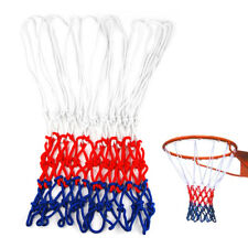 Standard 12 Hoop Durable Nylon Basketball Goal Hoop Net Red/White/Blue Sports