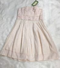 Glam Vintage Soul Strapless Lace Detail Dress Size S Dusty Pink