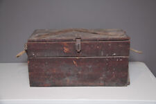 Antique c.1920s Wooden Crate for Disarticulated Human Skeleton Hinged Box