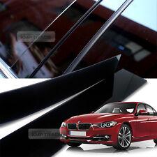 Glossy Black B C Pillar Post UV Coating Cover Trim 6P For BMW 12-17 3Series F30
