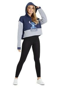 Disney Lilo and Stitch Women Cropped Hoodie, Crop Hoodies for Teens and Ladies