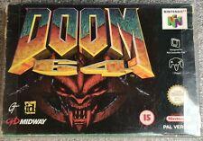 Doom 64 EUR UKV jeu Nintendo 64 / N64 game in box / en boite