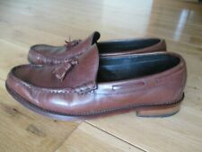 Marks & Spencer SARTORIAL Mens Brown Leather Tassle Loafers / Shoes 8 UK
