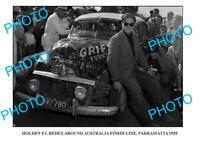 OLD 8x6 PHOTO OF FJ HOLDEN REDEX RALLY 55 PARRAMATTA