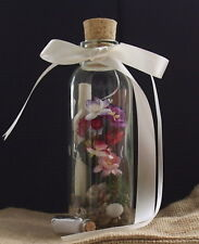Message in a Bottle Personalised Keepsake 3rd Wedding Anniversary real Leather