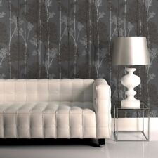 Superfresco Easy Paste The Wall Eternal Tree Charcoal Grey/silver Wallpaper