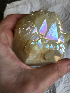 Doble Terminated Twin Aura Quartz Cathedral Cluster  Rare Config price slashed
