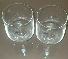 2 VINTAGE ORREFORS STEMMED GLASSES 15.5 x 6.5cm  EXC CONDITION ETCHED ON BASE.