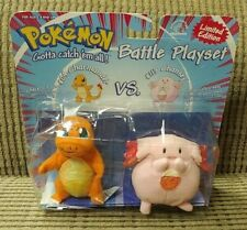Vintage Charmander vs Chansey plush Battle Playset 1999 BRAND NEW SEALED PLUSH