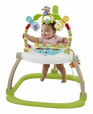 FISHER PRICE RAINFOREST SPACESAVER JUMPEROO BABY BOUNCER CHAIR SEAT JUMPER MUSIC