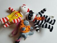 McDonald's Ty Bear and Eeorye Winnie the Pooh Small Plush Toy Lot
