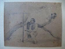 JOHANN FISCHBACH orig. Biedermeier Zeichnung um 1830 Studie Skizze Maler Natur