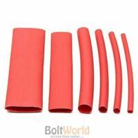 127 PCS RED HEAT SHRINK HEATSHRINK WIRE CABLE TUBING TUBE SLEEVING SLEEVE WRAP