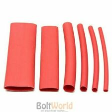 127 PCS RED HEAT SHRINK HEATSHRINK WIRE CABLE TUBING TUBE SLEEVING SLEEVE WRAP