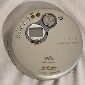 Sony D-FJ401 Discman Portable CD Walkman AM/FM TV Tuner Radio (UNIT ONLY)