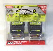 Ryobi P122 ONE+ 18-Volt Li-Ion Plus High Capacity 4-Ah Batteries (2-Pack) SEALED