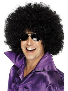 Adult Unisex Afro Wig Black Hair Halloween Costume Tight Fro 60s 70s Womens Mens