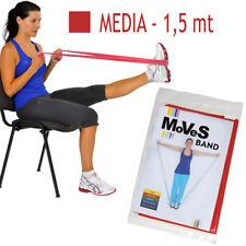 Moves FASCIA elastica ROSSA 1,5 mt MEDIA Primo Allenamento Banda Pilates Fitness