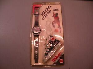 1987 Vintage Bulls Michael Jordan Wilson Watch and Key Chain New in Damaged Box