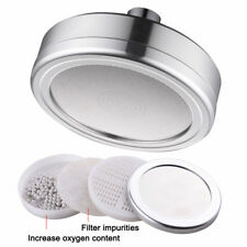 Aluminum 5 Inches Water Saving Shower Head with Shower Filter Can Be Cleaned