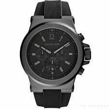 Michael Kors Watches MK8152 Montre Homme Dylan Chronographe Silicone Noir