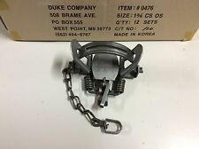 12 Duke # 1 3/4 (1.75) Coil Spring OS Trap Raccoon Bobcat Badger coyote NEW SALE