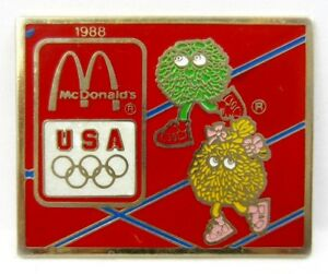 Vintage Old 1988 Seoul Olympics McDonald's USA Olympic Team Sponsor Pin