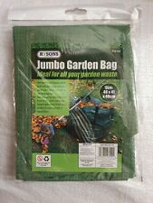 HEAVY DUTY JUMBO LARGE GARDEN WASTE BAG REFUSE SACK HANDLES REUSABLE SHOWERPROOF