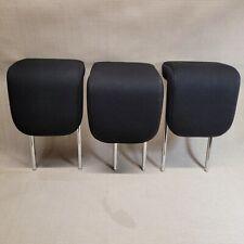 2008-2010 SCION XD OEM REAR BACK SEAT HEADRESTS HEAD REST SET OF 3 BLACK CLOTH 3