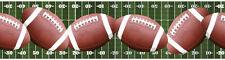 Footballs Across the Football Field Peel & Stick Wallpaper Border QA4W1661