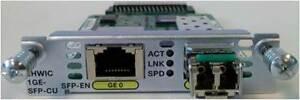 Véritable Cisco EHWIC-1GE-SFP-CU 1 Port Gigabit Cuivre/SFP Port 1 An Garantie