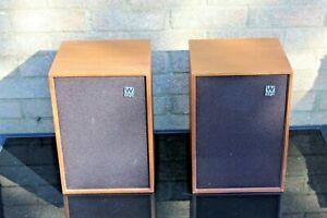 Vintage Wharfedale Denton XP2 2Way Bookshelf Loudspeakers Speakers Used Wooden