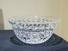 OLD Large Heavy Glandore Waterford Lead Crystal Cut Glass Fruit Bowl