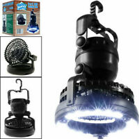 2 in 1 LED Camping Lantern And Fan 18LED Bright Flashlight Hanging Tent Light