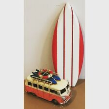 WOOD SURF SURFBOARD DECOR DECORATION With VW surf bus