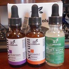 Art Naturals Anti Aging Set Vitamin C, Retinol ,Hyaluronic Acid Serum Trio