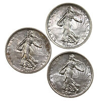3 Pack 1960 France 5 Francs Coin Lot