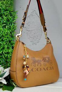 COACH Jes Hobo Shoulder horse carriage Logo 72702 purse leather shoulder bag