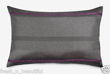 Dkny City Pulse Charcoal Silver Gray/Magenta Stripe Standard/Queen Pillow Sham